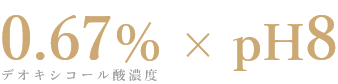 0.67%×pH8